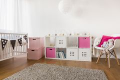 Room for baby girl Royalty Free Stock Images