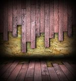 Room backdrop with wood abstract planks Royalty Free Stock Photos