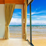 Room at beach with blue sky Royalty Free Stock Image