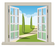 Room with a beautiful view Royalty Free Stock Image