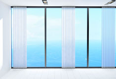 Room with a beautiful view of the ocean Royalty Free Stock Image