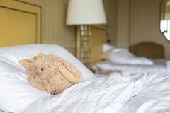 Room with bed and plush toy Stock Photography