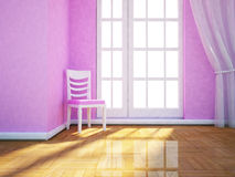 A room with a big window Royalty Free Stock Photography