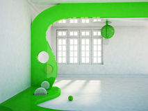 Room with a big window, Royalty Free Stock Images