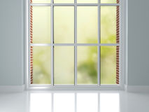 Room with big window. Royalty Free Stock Image