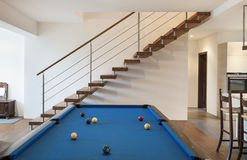 Room with billiards Royalty Free Stock Photos