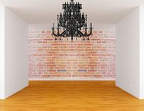 Room with black chandelier Stock Photo