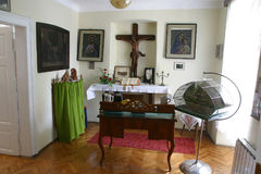 Room of the Blessed Alojzije Stepinac where he had lived during his detention in the rectory in Krasic, Croatia Stock Photo