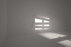Room with bordered up window. Digitally generated room with bordered up window Stock Photos