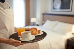In-room breakfast Stock Photo