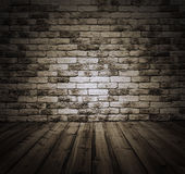 Room with brick wall Royalty Free Stock Image
