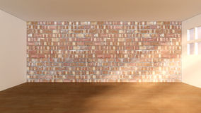 Room and brick wall Stock Photos