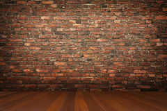 Room with brick wall Stock Images