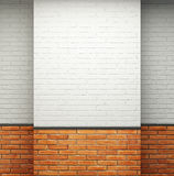 Room with brick walls Stock Image