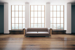 Room with brown sofa Royalty Free Stock Photography