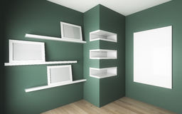 Room with cabinet and shelf Royalty Free Stock Image