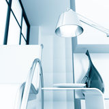 Room with chair and lamp Royalty Free Stock Images