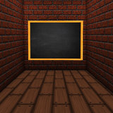Room with chalkboard Stock Photography