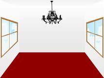 Room and chandelier Royalty Free Stock Photos