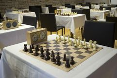 Room for chess competition Royalty Free Stock Images