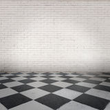 Room with chessboard floor Stock Photography