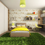 Room for a child  with a desk and wardrobe  and the bed Stock Photo