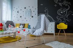 Room of a child with a fantasy Stock Photography