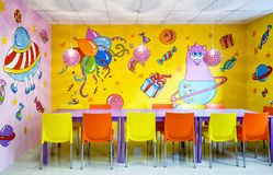 Room for children`s parties. Moscow - June 24, 2014: Room for children`s parties Stock Image