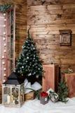 Room Christmas Tree, Xmas Home Interior Decoration, Toys royalty free stock photos