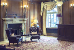 Room in classic hotel. Lobby room in classic hotel Stock Photography