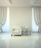 Room in classic style with armchair and coffe table Royalty Free Stock Image