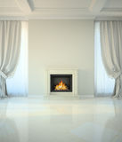 Room in classic style with fireplace Royalty Free Stock Photo