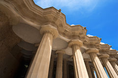 Room of 100 Columns - Park Guell Barcelona Stock Photos