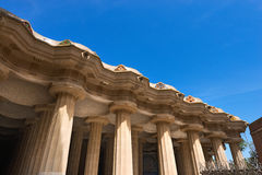 Room of 100 Columns - Park Guell Barcelona Royalty Free Stock Image