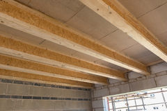 Room construction showing joists truss Royalty Free Stock Image