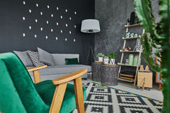 Room corner with armchair Royalty Free Stock Photography
