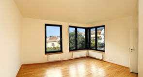 Room with corner windows Royalty Free Stock Photo