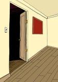 Room with Dark Doorway Royalty Free Stock Photos