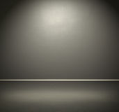 Room with dark grey wall and floor Royalty Free Stock Image