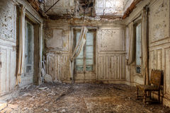 Room of Decay. A room full of decay in an abandoned castle somewhere in France Stock Images