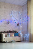 Room decorated with Christmas decorations Stock Photography