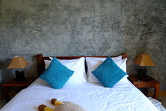 Room decorated with raw concrete Royalty Free Stock Photography