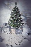 Room decorated to christmas celebration Royalty Free Stock Image