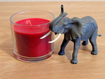 Room decoration. Elephant and candle room decoration Stock Photos