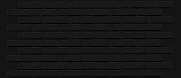 Black brick wall texture. Cracked empty background. Grunge dark wallpaper. Vintage stonewall. Room design interior. Basic illustration for banners.  rough clean Stock Images