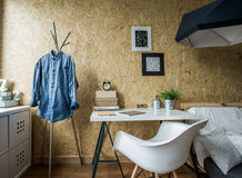 Room design for male student stock images