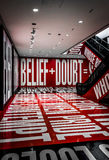 A room designed by Barbara Kruger, in the Hirshhorn Museum, Wash Stock Image