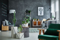 Room with designer furniture Stock Photo