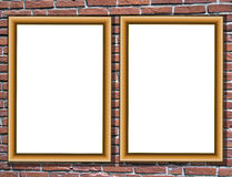 Room detail with picture frames Stock Images