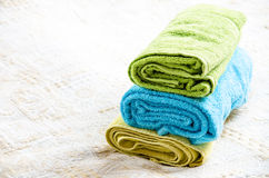 Room detail.  towels. Stock Images